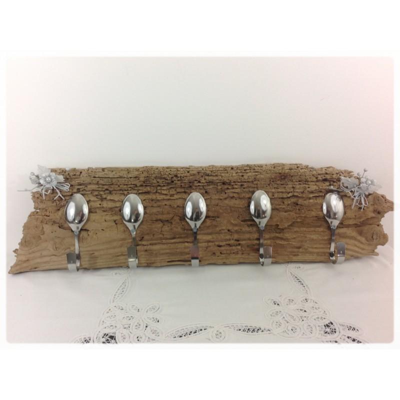 Porte ustensiles t thys art en bois flott for Cuisine bois flotte