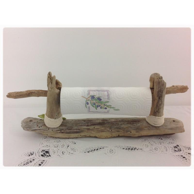 Derouleur essuie tout en bois for Meubles bois flotte design
